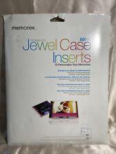 Memorex Printable Cd Jewel Case Insert 50 Packlot Of 4 Packs