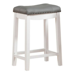 High Saddle Bar Stool Seat Wide Padded Counter Top Kitchen