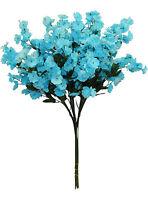 12 Baby's Breath Turquoise Blue Gypsophila Silk Wedding Flowers Centerpieces