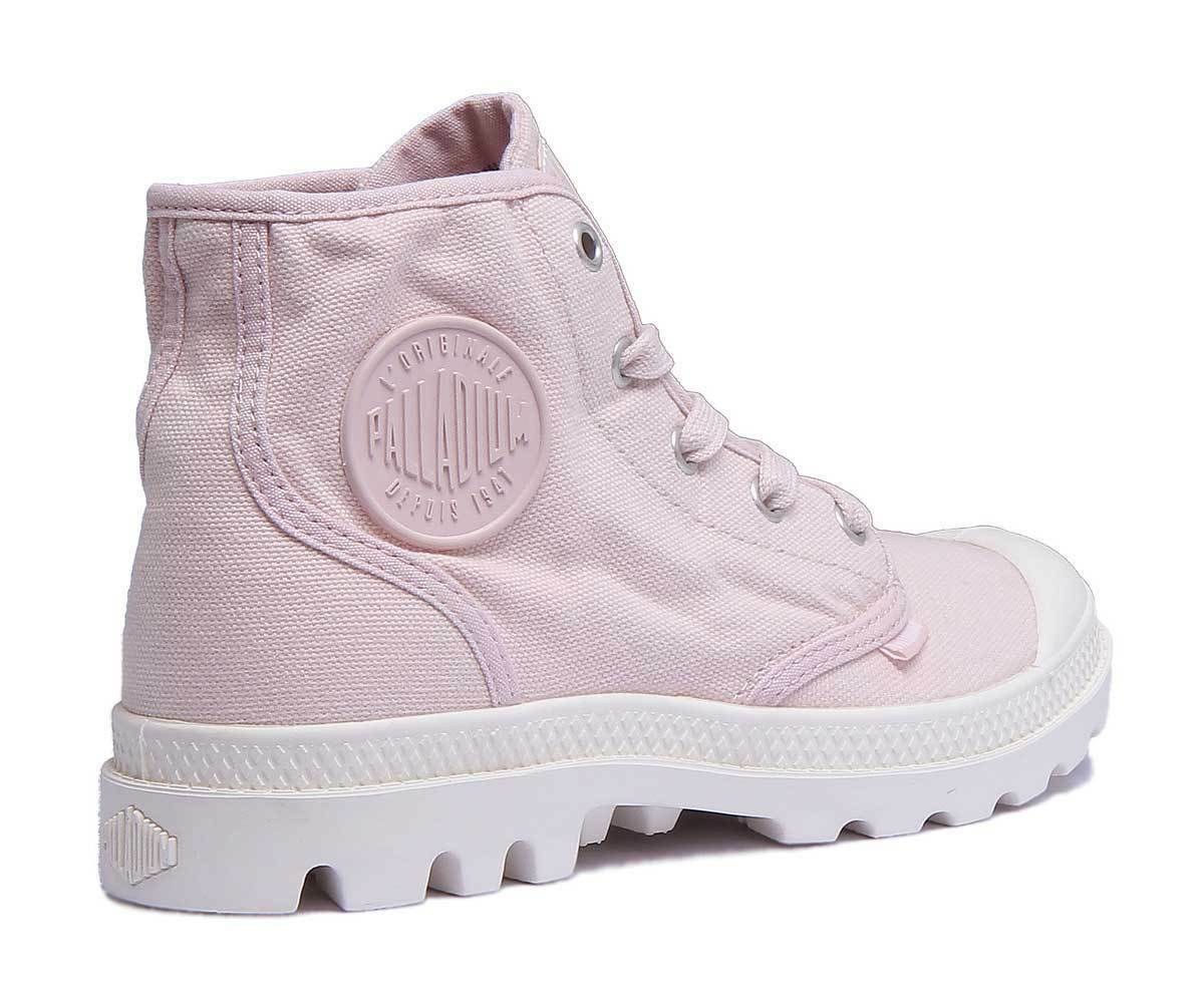 Palladium Pampa Hi Damenschuhe Peach Canvas Ankle - Stiefel Größe UK 3 - Ankle 8 21a51d