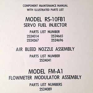 Details about Bendix RS-10FB1 Servo Fuel Injector Component Maintenance &  Parts Manual