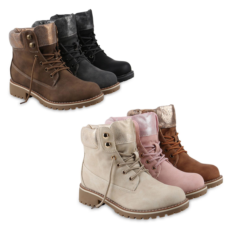 Damen Stiefeletten Outdoor Worker Boots Leicht Gefütterte 818250 Schuhe