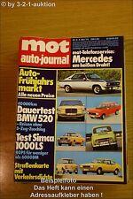 MOT 9/74BMW 520 Mazda 1300 Simca 1000 LS