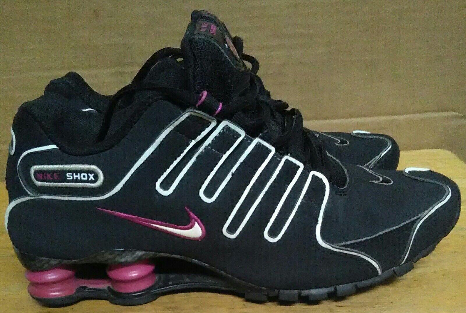 2018 Mujeres Nike Zapatos. Shox NZ 488312-011 UE Negro/Marino/Rave Rosa Zapatos. Nike 165257