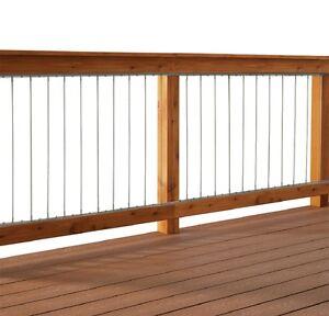 dolle insta rail vertical cable railing 6 ft insert kit. Black Bedroom Furniture Sets. Home Design Ideas