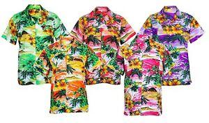 Homme-Chemise-Hawaienne-Stag-Plage-Hawaii-Aloha-Party-Summer-Holiday-Fantaisie-S-XXL-D1