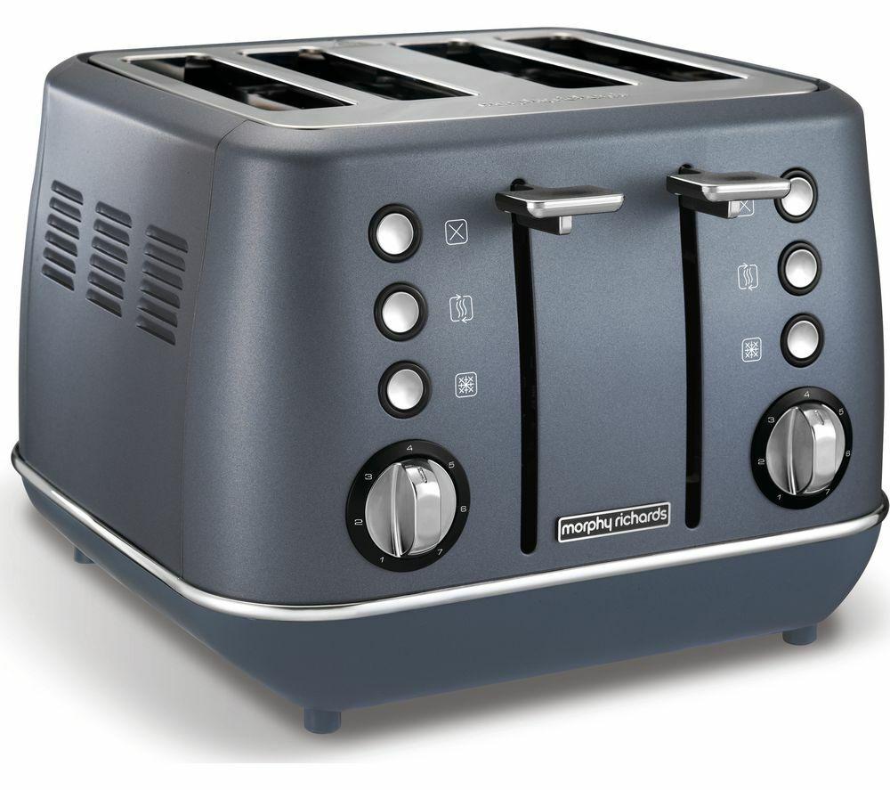 MORPHY RICHARDS Evoke Premium 4-Slice Toaster - Steel bluee