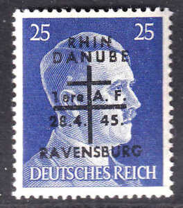 GERMANY 518 1945 RAVENSBURG LIBERATION OVERPRINT OG NH U/M VF BEAUTIFUL GUM
