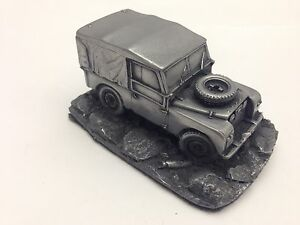 Land-Rover-Series-1-SWB-canvas-tilt-closed-1-43-Scale-Pewter-Effect-Model-Car