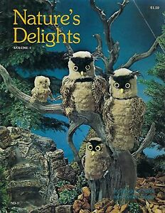 Nature's Delights ND1 Vintage Macrame Book Great Horned & Screech Owl Patterns