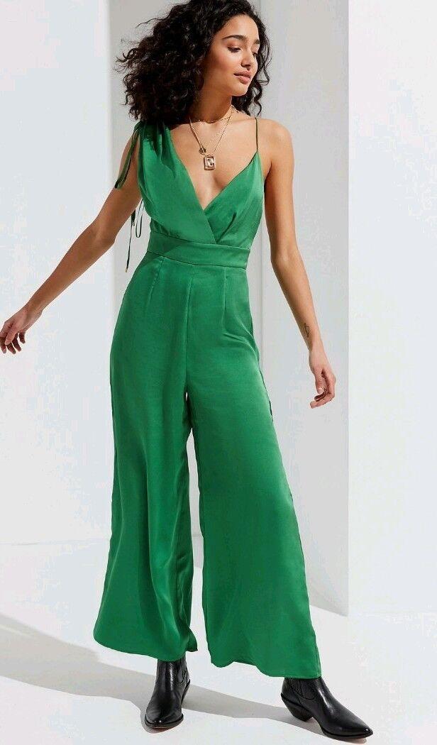 Keepsake I've Got You Jumpsuit Womens Small Green NEW