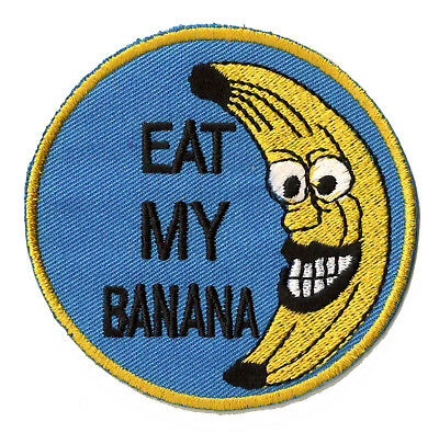 Patch écusson patche banane thermocollant iron-on ecusson brodé badge