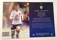 2016 Topps UEFA Champions League 5x7 GOLD (#/10) JOSE LUIS GAYA #198 Valencia