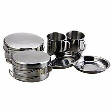 BeGrit Backpacking Camping Cookware Picnic Cooking Cook Set for Hiking (8pcs/...
