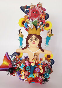 Mermaid-doll-ceramic-tree-of-life-sea-creatures-Metepec-Asael-Castillo-Mexican