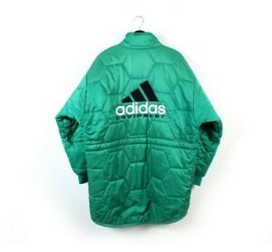 90s adidas EQUIPMENT vintage quilt padded jacket parka EQT cold seasons coat M L