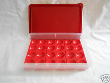 Tupprware large snack store cold cut keeper 9x12 transport container+3 egg trays