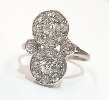 14k white gold Vintage  OLD MINE CUT ROUND 1.50ct  Diamond  ring