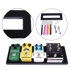 15 6 5 inch mini guitar effects pedalboard pedal board glued loop setup kits ebay. Black Bedroom Furniture Sets. Home Design Ideas
