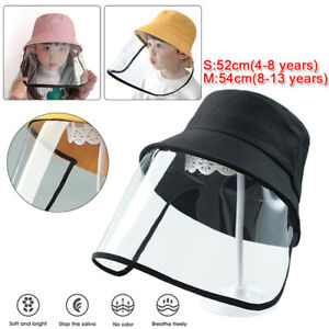 Kids-Full-Face-Shield-Hat-Anti-Splash-Dust-Protection-Cover-Fisherman-Cap-4-13Y