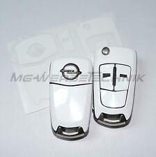 1O_Schlüssel-Dekor Aufkleber Opel Corsa D,Astra H,Zafira B, Vectra weiß glänzend