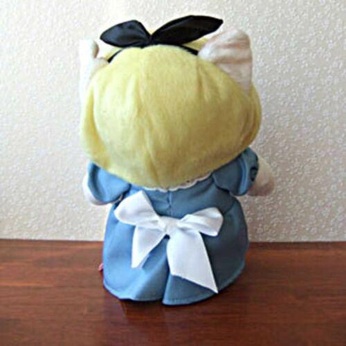 """Choo Cat Peluche Bambola di Gatto Alice IN Wonderland M H7.09 """" Giappone"""