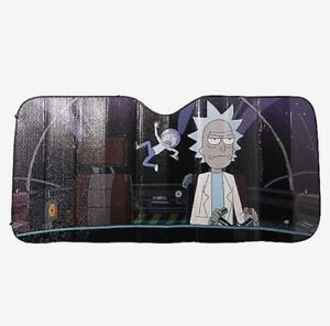 Rick And Morty Space Cartoon Network Accordion Car Sun Shade New In ... e965e01fcd1