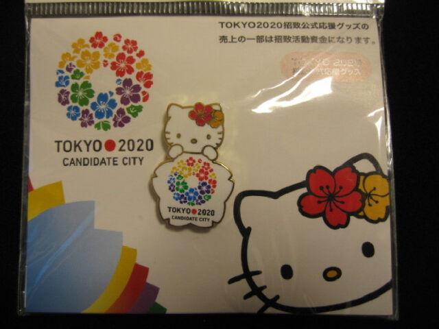 RARE 2020 TOKYO OLYMPIC CANDIDATE CITY PIN BADGE KITTY BID PINS