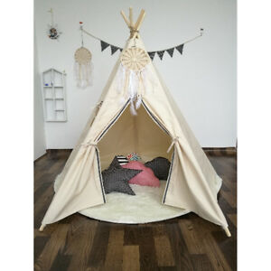 Details about WIGWAM Large Kids Teepee Cotton Canvas Play Tent Tipi Indoor  Outdoor