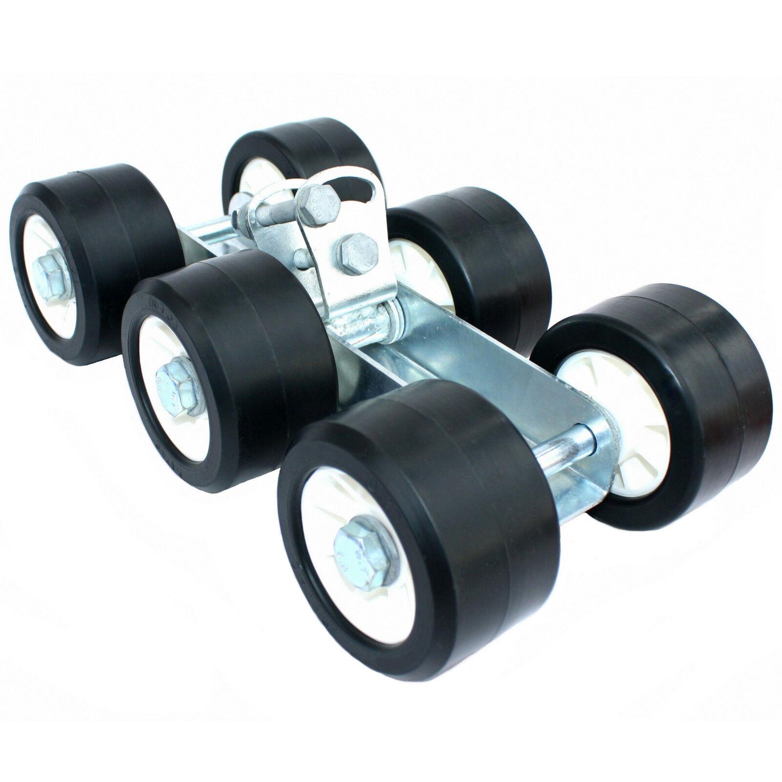 ✘ 6er-Slipwagen schwarz schwarz schwarz Aufnahme 30 40 mm (Rollen Ø100xB60)   Sliprolle 587da6