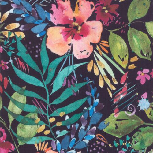 Moda Brillantes Blooming Flor Fiesta Azul Marino Por Metro 1//4