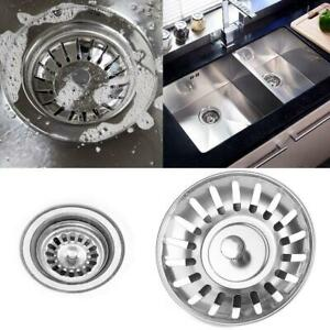 Stainless-Steel-Sink-Strainer-Waste-Plug-double-floor-Drain-Stopper-Filter