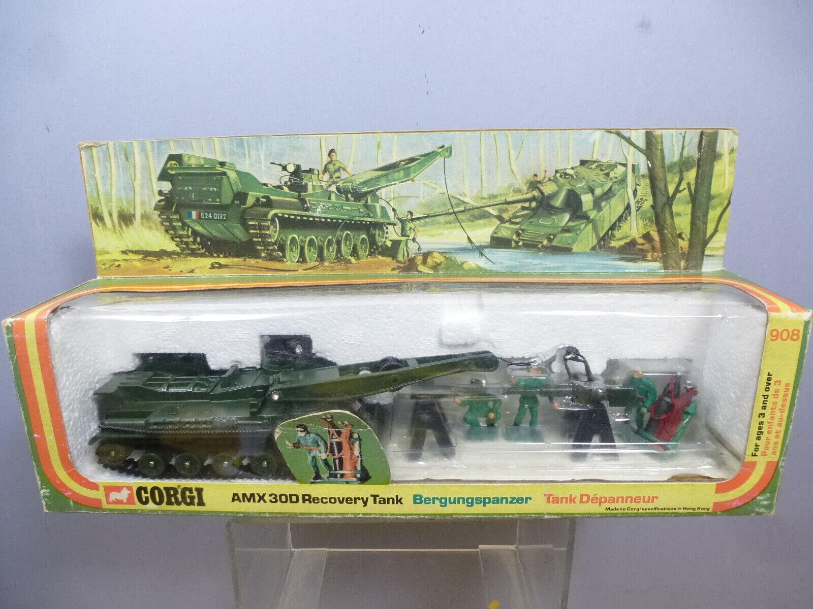 Corgi Toys Modelo No.908 am 30D conjunto de tanque de recuperación VN MIB