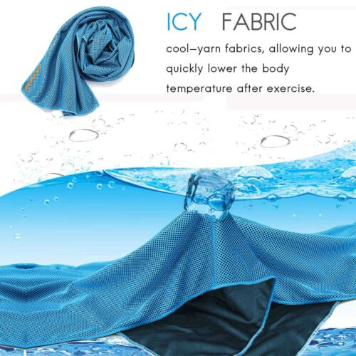 New Sports Towel Cool Feeling Workout Exercise Sweat Wipe Towel Running Cloth CA
