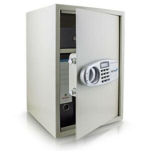 BITUXX-Safe-Tresor-Mobeltresor-Wandtresor-Aktentresor-Geldschrank-lichtgrau