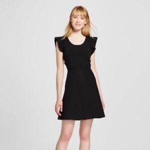4d1719aee1 Victoria Beckham for Target Women s Black Ruffle Sleeve Sweater Knit ...