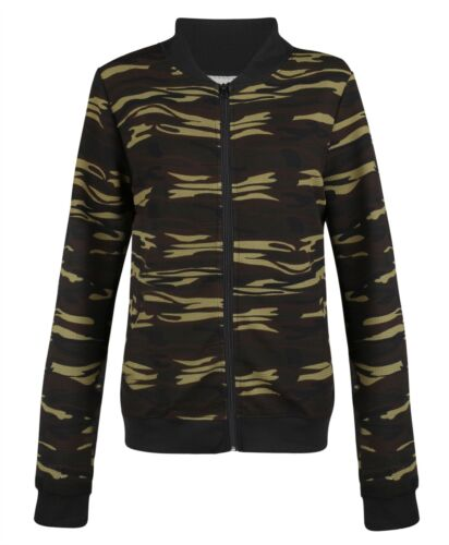 Women Active Wear Jacket Zip Ladies Camouflage Print Sport Curve Top Size L-3XL