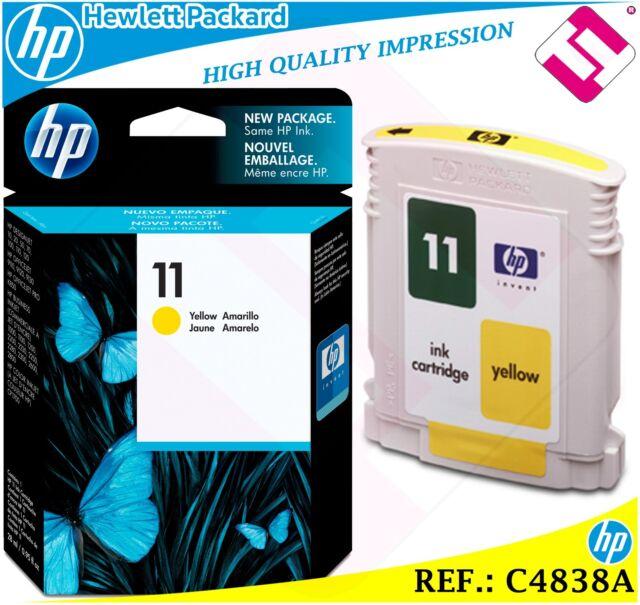 INK YELLOW 11 ORIGINAL PRINTERS HP CARTRIDGE BLACK HEWLETT PACKARD C4838A