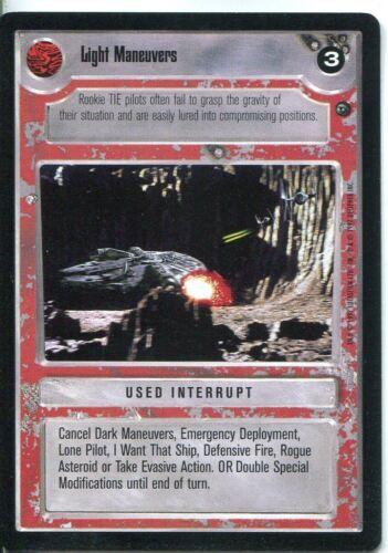 Star Wars CCG Dagobah Limited BB Light Maneuvers