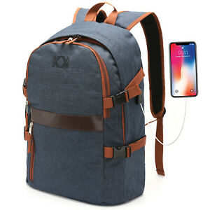 Laptop Backpack KK 15.6 inch Laptop Rucksacks USB Charging