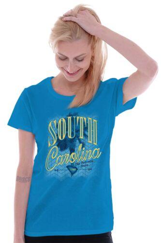 Ladies Palmetto State South Carolina Myrtle Beach SC Souvenir women Tee T Shirts
