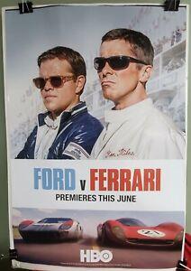 Ford V Ferrari Hbo Movie Poster New Original W Matt Damon Christian Bale Ebay