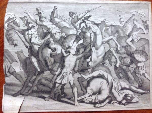 Agresivo Guerra De Troya Mitología Griega Aguafuerte 1667.le Metamorfosis De Ovidio Una Caja De PláStico Está Compartimentada Para Un Almacenamiento Seguro