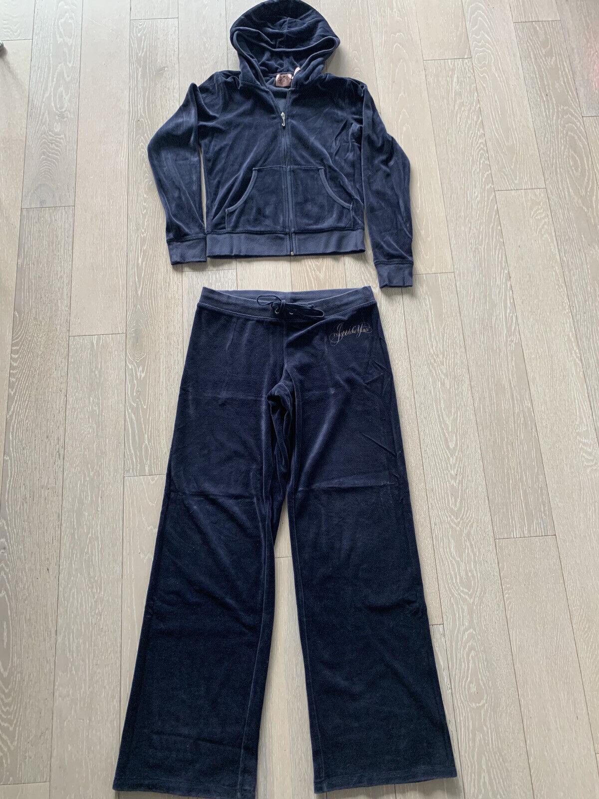Juicy Couture Mosaic Velour Tracksuit Dark Plum Hoodie Pant Medium For Sale Online Ebay