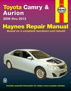 haynes workshop service repair manual book toyota camry aurion 2006 2013 ebay. Black Bedroom Furniture Sets. Home Design Ideas