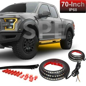 Terrific 2X 70 Drl Running Board Step Bar Turn Signal Switchback Led Light Wiring Cloud Hisonuggs Outletorg