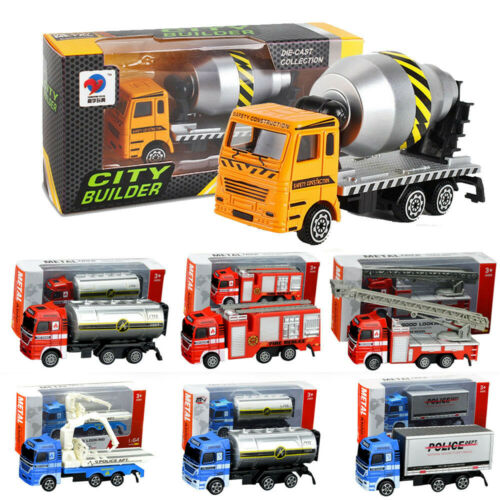 Alloy Engineering Toy Mining Car Truck Fire Rescue Kids Birthday Gift Xmas Gifts