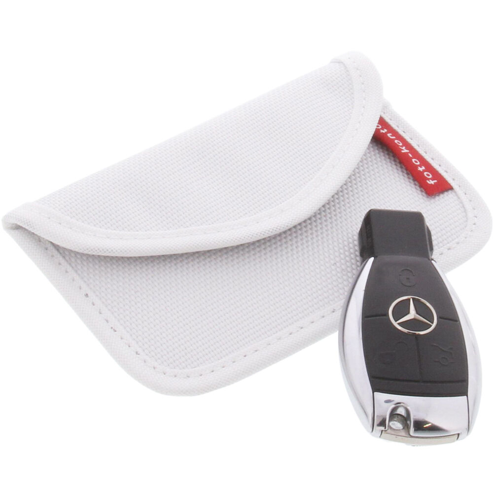 Radiation Protection Bag For Keyless Key Entry Open Go Theft Protection White
