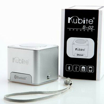 Kubite Cube Portable Mini USB Bluetooth Wireless Speaker Music Player with AUX