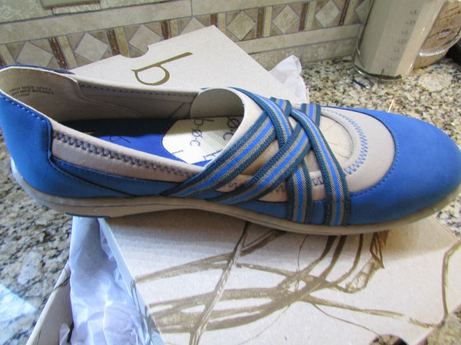 NEW BORN B.O.C NAMBE bleu MARY JANE SLIP ON LOAFER chaussures femmes 10 FREE SHIP